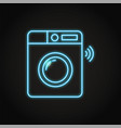 neon smart washing machine icon in line style vector image vector image