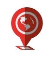 pin map pointer gps location shadow vector image vector image