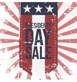 Presidents Day Sale Label on striped Background vector image vector image