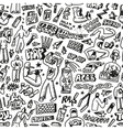 raphip hop graffiti - seamless background vector image vector image