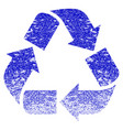 recycle grunge textured icon vector image vector image