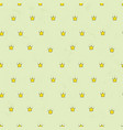 seamless pattern with cute crowns simple vector image vector image
