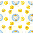 Seamless pattern with kids theme vector image vector image