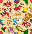 seamless pattern with symbols christmas and new vector image