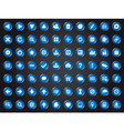 Set of blue universal web icons vector image