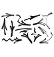 set of graffiti arrows drawn by a marker vector image vector image