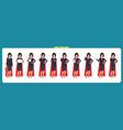 set super businesswoman character design vector image vector image
