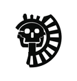 Skull the god of death of Aztecs icon vector image vector image