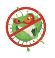 stop coronavirus vector image vector image
