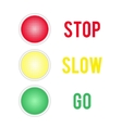 Traffic lights sign isolated on white background vector image vector image