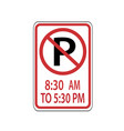 usa traffic road signs no parking from 830 vector image vector image