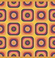 vintage seventies seamless pattern vector image