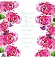 Watercolor Pink Rose flowers card