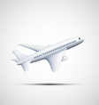 white airplane Stock vector image vector image