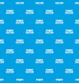 zombie horror pattern seamless blue vector image vector image