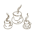 cooffee cup vector image