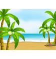 A peaceful beach vector image