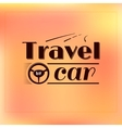 Travel logo typography label design vector image
