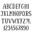 Handwritten simple font hand drawn sketch alphabet vector image
