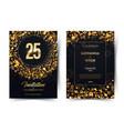 25th years birthday black paper luxury
