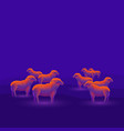 a flock of sheep isolated on a dark blue vector image vector image