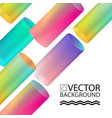 abstract digital hologram tube style geometric vector image vector image