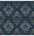 Abstract vintage seamless damask pattern vector image vector image