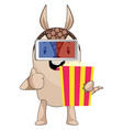 armadillo with popcorn on white background vector image vector image