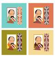assembly flat icons education ukrainian portrait vector image