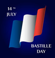 bastille day vector image