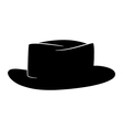 black hat logo silhouette vector image