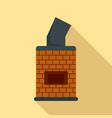 bread brick oven icon flat style vector image
