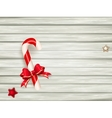candy cane on wooden board eps 10