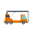 car crane icon flat style vector image vector image