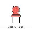 chair dining furniture line icon vector image vector image