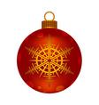 Christmas red ball vector image vector image