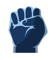 clenched hand symbol vector image vector image