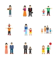 Close relatives icons set flat style vector image