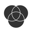 cmyk or rgb color circles glyph icon vector image vector image