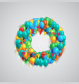 colorful font made by ballons vector image