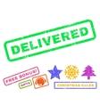 Delivered Rubber Stamp vector image vector image