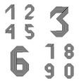 design numbers set vector image