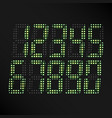 digital glowing numbers set of digital vector image