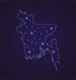 digital network map of bangladesh abstract