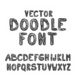 Doodle font abc hand drawn style alphabet letters