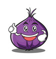 enthusiastic red onion character cartoon vector image vector image