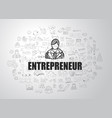 entrepreneur concept with business doodle design vector image vector image