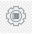 eu concept linear icon isolated on transparent vector image