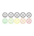 feedback concept rank level satisfaction vector image vector image