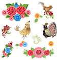 fine collection of fancy decorative birds and vector image vector image